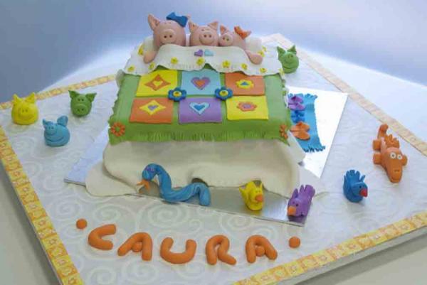 Torta Compleanno Laura.Per Il Primo Compleanno Di Laura